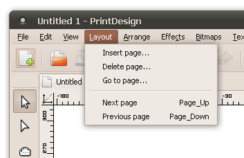 Layout program menu