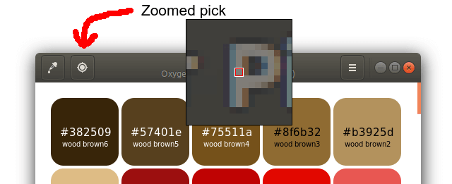 Zoomed pick tool